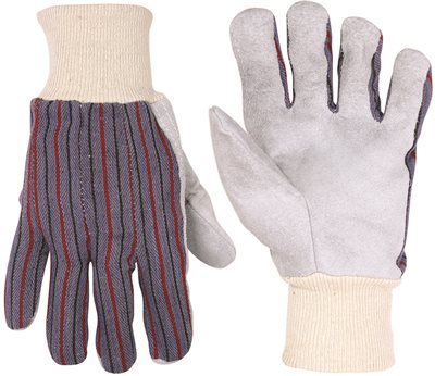 CLC� ECONOMY LEATHER PALM WORK GLOVES WITH KNIT WRIST, ONE SIZE FITS ALL
