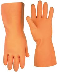 CLC� FLOCK-LINED LATEX STRIPPER GLOVES, LARGE, ORANGE, 12 IN., SINGLE PACK