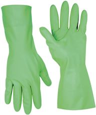 CLC� FLOCK-LINED NITRILE GLOVES, LARGE, GREEN, 12 IN., SINGLE PACK