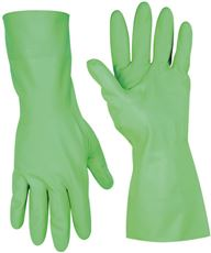 CLC� FLOCK-LINED NITRILE GLOVES, EXTRA-LARGE, GREEN, 12 IN., SINGLE PACK