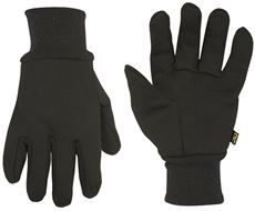 CLC� HEAVY WEIGHT LINED BLACK COTTON JERSEY GLOVES ONE-SIZE
