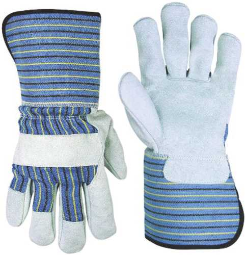 CLC� SPLIT LEATHER PALM WORK GLOVES WITH EXTENDED 4.5 IN. SAFETY CUFF, LARGE
