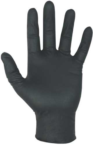 CLC� DISPOSABLE POWDER-FREE NITRILE GLOVES, EXTRA-LARGE, BLACK, 6 MIL, 100 GLOVES PER BOX