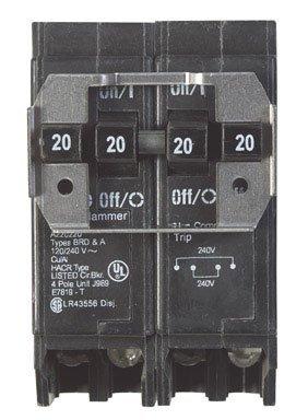 CIRCUIT BRKR BQ 4P 2-20A/2-20A