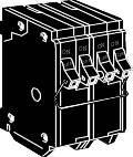 Eaton BQ230250 Type BQ Quadplex Circuit Breaker, 120/240 VAC, 30/50 A, 4 P, 10 kA