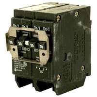 Eaton BQ220240 Type BQ Quadplex Circuit Breaker, 120/240 VAC, 20/40 A, 4 P, 10 kA