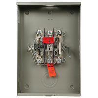 Cutler-Hammer UTTE5213BCH Ringless Meter Socket, 600 VAC, 200 A, 1 Phase, 14 - 2 AWG Cable, Surface Mount