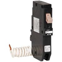Cutler-Hammer CHFGFT115 Ground Fault Type CH Circuit Breaker, 120/240 VAC, 15 A, 1 P, 10 kAIC