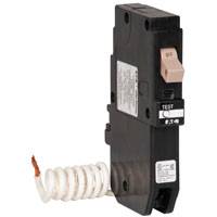 Cutler-Hammer CHFGFT120 Ground Fault Type CH Circuit Breaker, 120/240 VAC, 20 A, 1 P, 10 kAIC