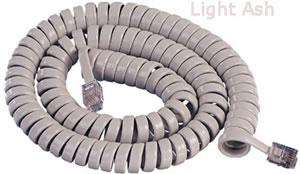 GCHA444012-FLA / 12' LT ASH Handset Cord