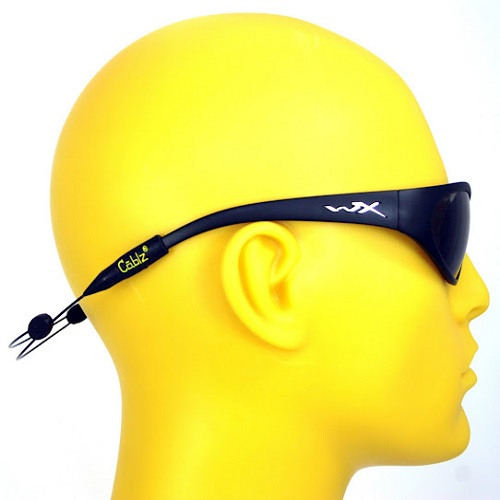 Cablz Zipz Adjustable Sunglasses Holder Black 12in