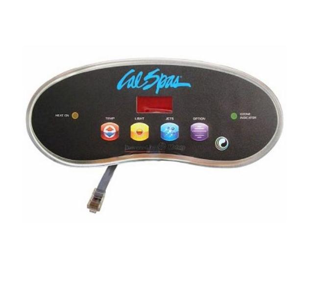 Spaside Control, Cal Spa (Balboa) 6000-6100, 4-Button, LED, Temp-Light-Jets-Option