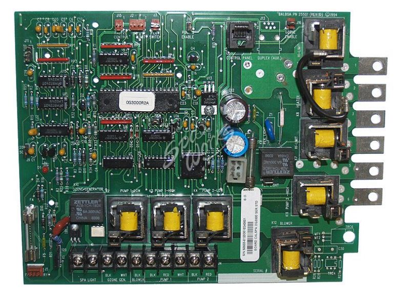 Circuit Board, Cal Spa (Balboa), OG3000R2, Serial Standard, Gas System, 8 Pin Phone Cable