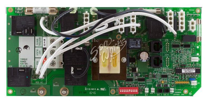 Circuit Board, Cal Spa (Balboa), COLE2PDVR1, VS513Z, 8 Pin Phone Cable