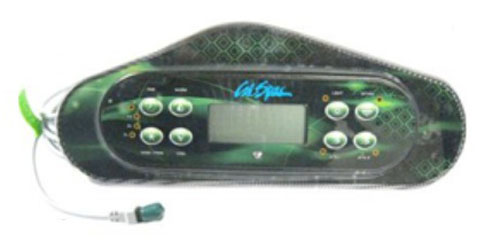 Spaside Control, Cal Spa (Balboa) Large Dash GL w/Bezel, 8-Button, LCD, Jet1-Jet2-Option