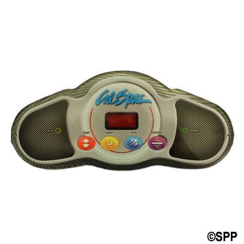 Spaside Control, Cal Spa (Balboa) Mini Dash, 4-Button, LED, Temp-Light-Jets-Option