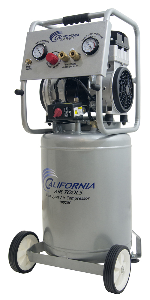 California Air Tools 10020CAD-22060 Ultra Quiet & Oil-Free 2.0 Hp, 10.0 Gal. Steel Tank Air Compressor with Auto Drain Valve
