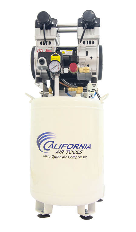 California Air Tools 10020DC-22060 Ultra Quiet & Oil-Free 2.0 Hp, 10.0 Gal. Steel Tank Air Compressor with Air Drying System (22