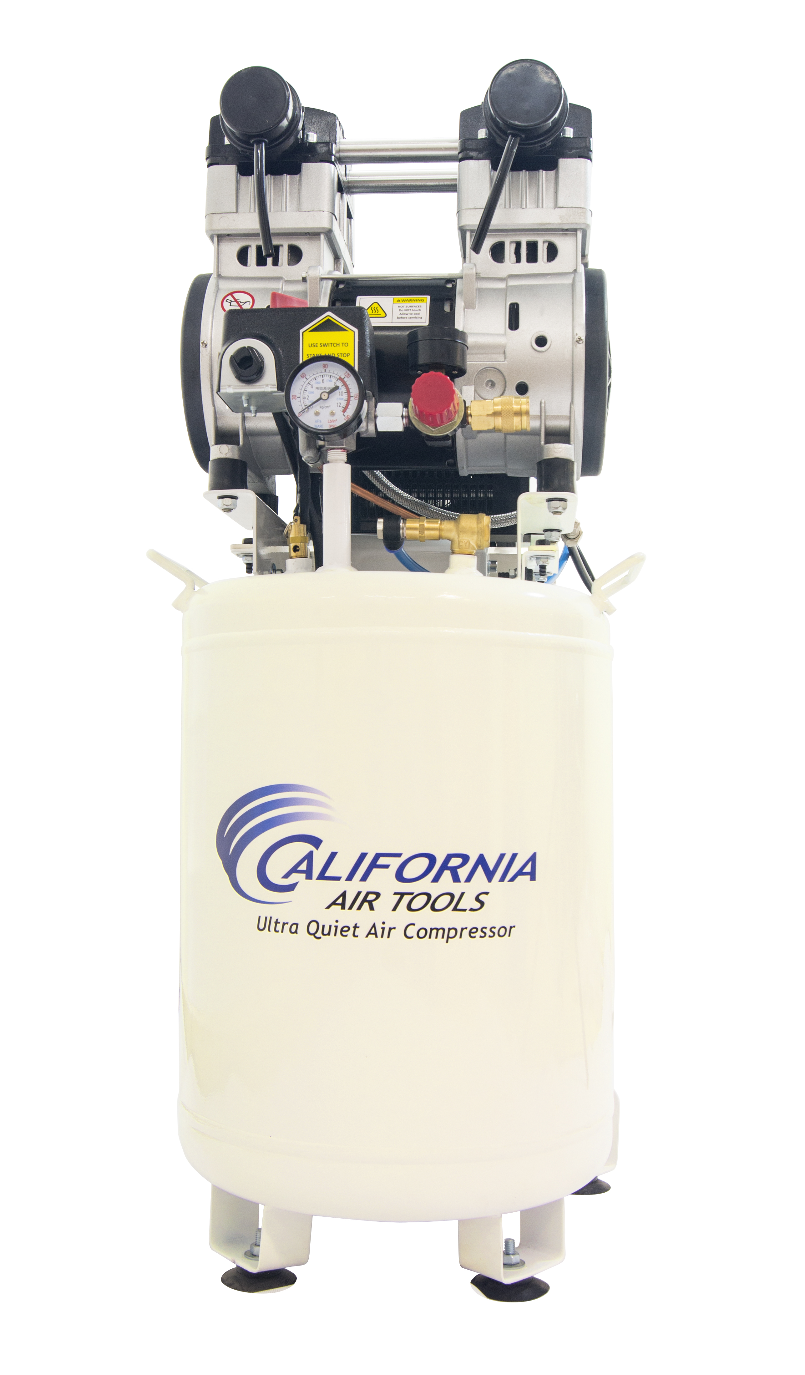 California Air Tools 10020DCAD-22060 Ultra Quiet & Oil-Free 2.0 Hp, 10.0 Gal. Steel Tank Air Compressor with Air Drying System (