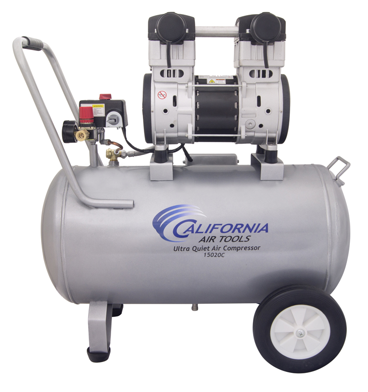 California Air Tools 15020C-22060 Ultra Quiet & Oil-Free 2.0 Hp, 15.0 Gal. Steel Tank Air Compressor (Condor Pressure Switch)