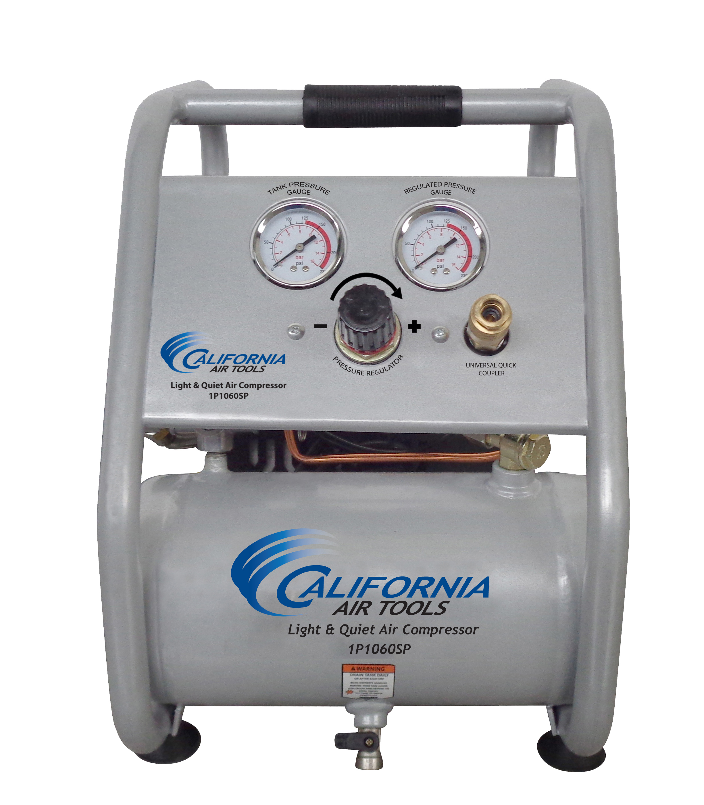 California Air Tools 1P1060SP Light & Quiet .6 Hp, 1.0 Gal. Steel Tank Portable Air Compressor