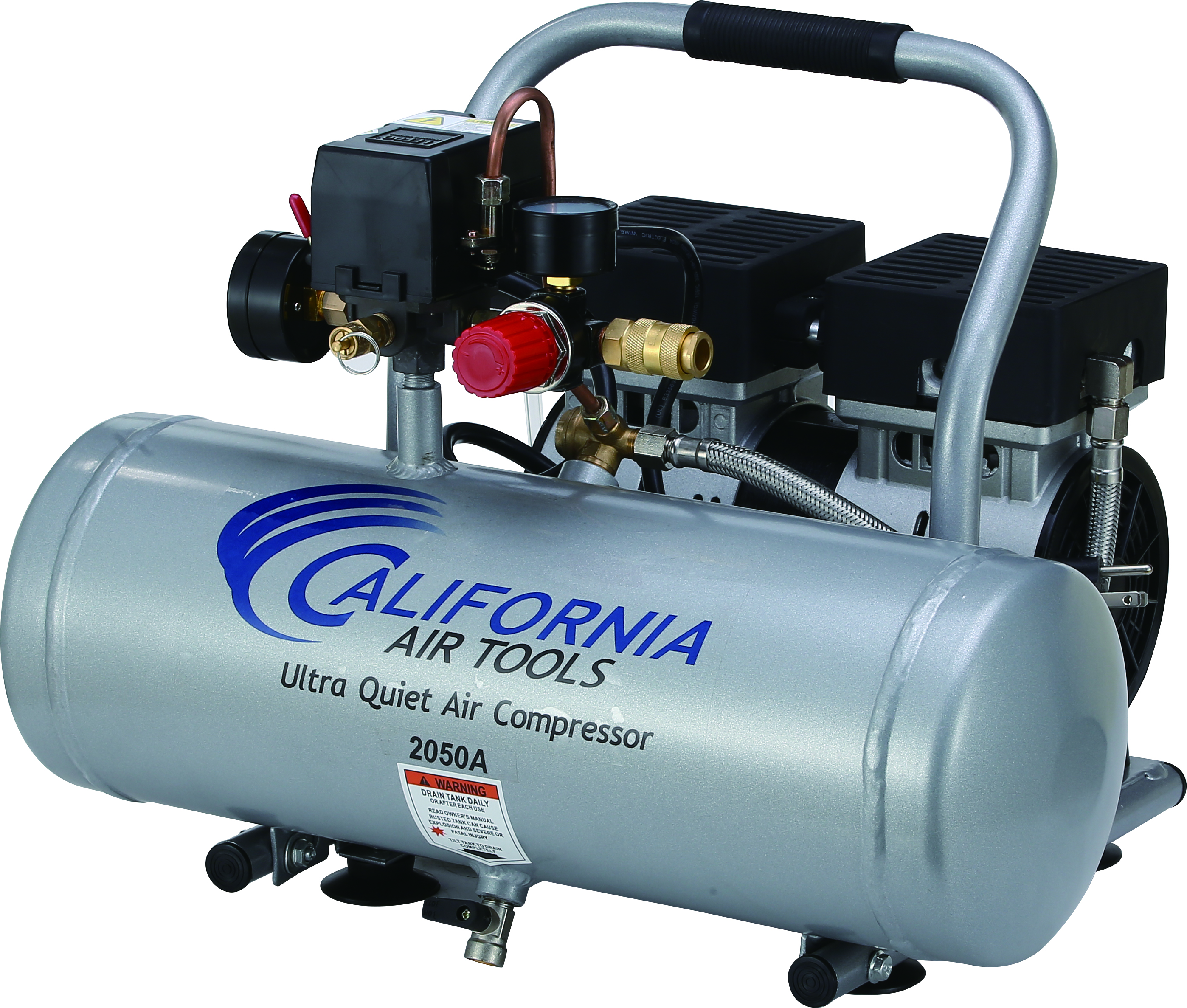 California Air Tools 2050A Ultra Quiet & Oil-Free 1/2 Hp, 2.0 Gal. Aluminum Tank Air Compressor