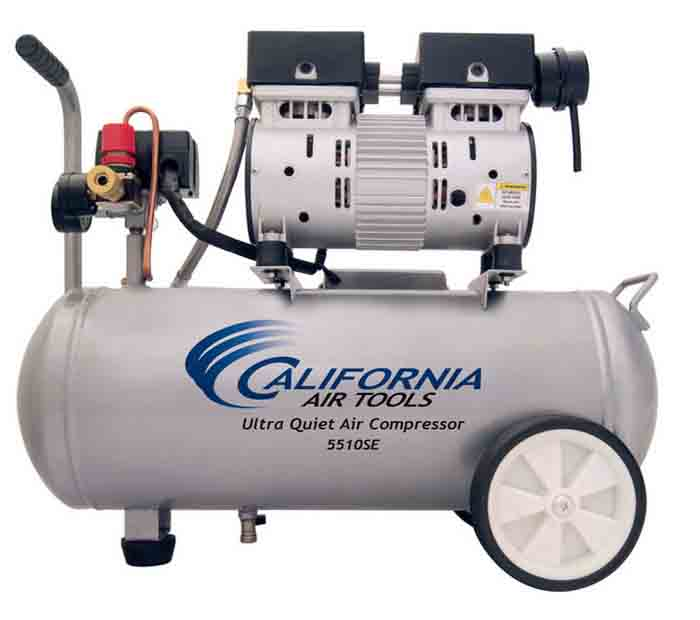 California Air Tools 5510 Ultra Quiet & Oil-Free 1.0 Hp, 5.5 Gal. Steel Tank Air Compressor (Special Edition)