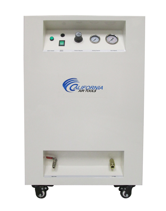 California Air Tools 8010Spc Ultra Quiet & Oil-Free 1.0 Hp 8.0 Gal. Steel Tank Air Compressor In Sound Proof Cabinet