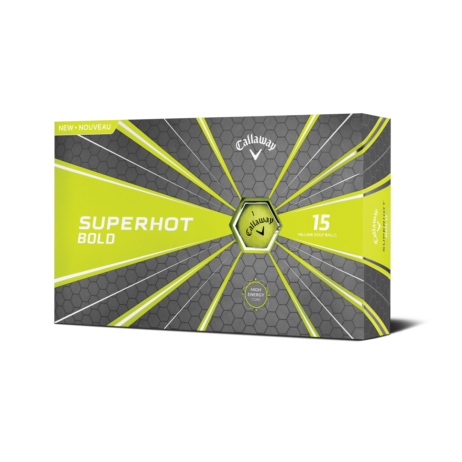 Callaway Superhot 18 Golf Balls - 15 Pack Bold Yellow