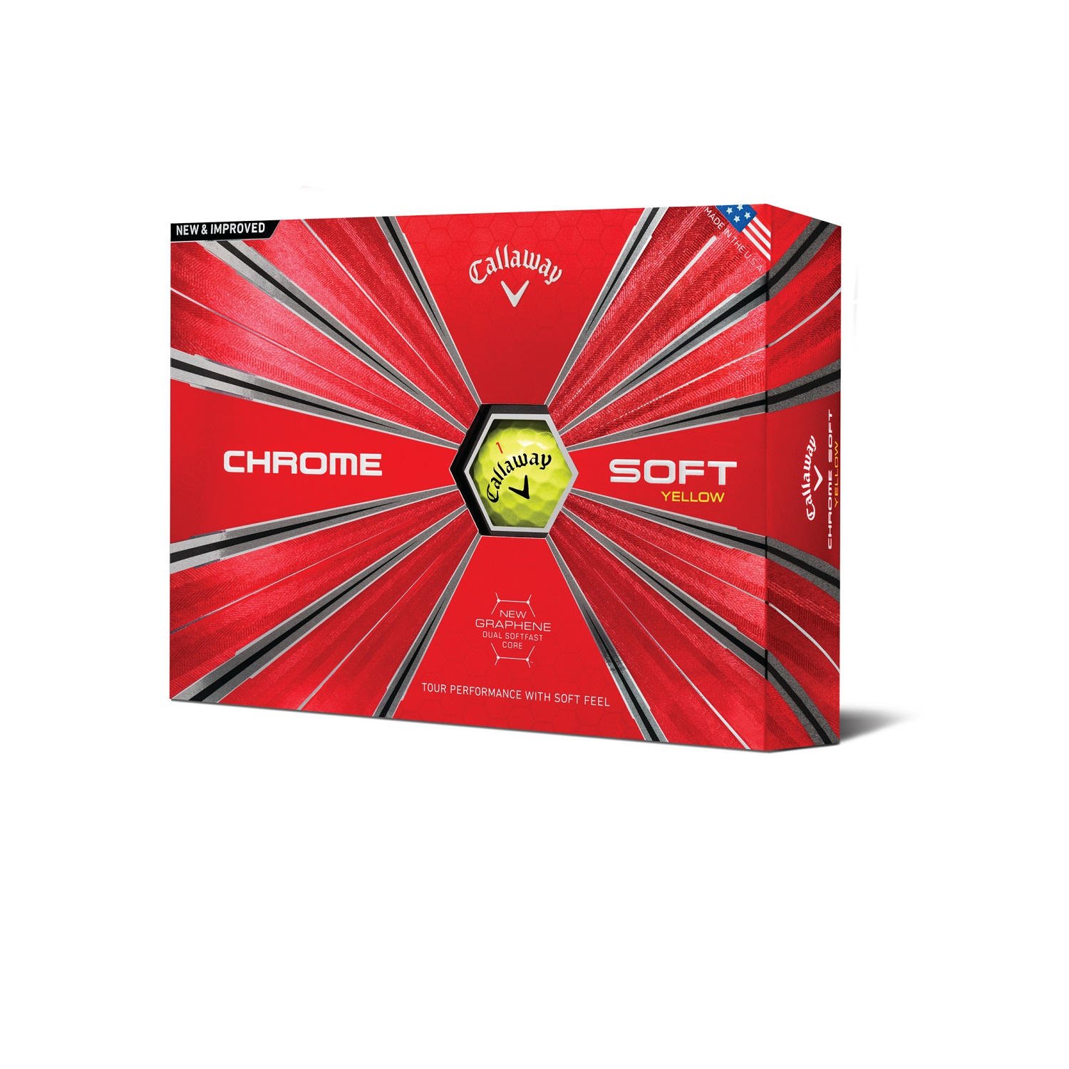 Callaway Chrome Soft 18 Golf ball - 12 Pack Yellow