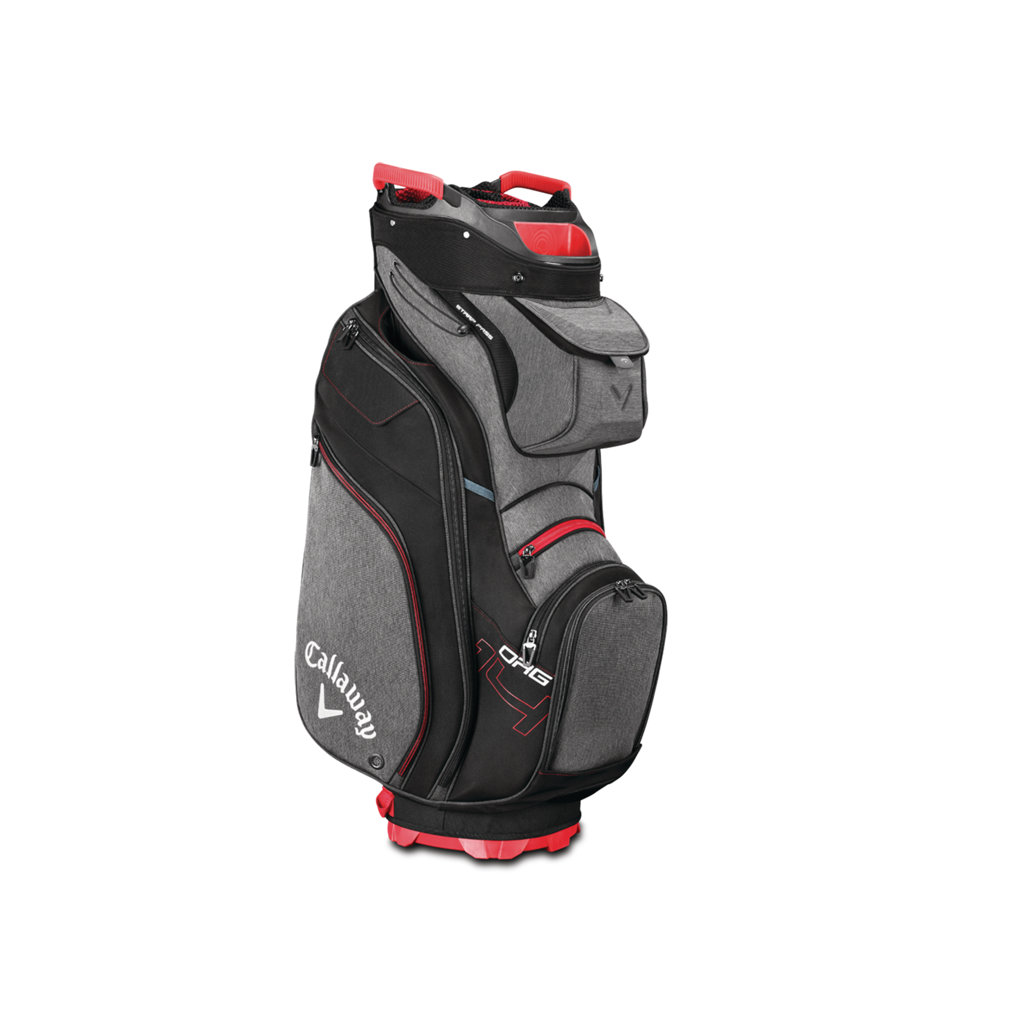 Callaway ORG 14 Cart Golf Bag Titanium/Black/Red