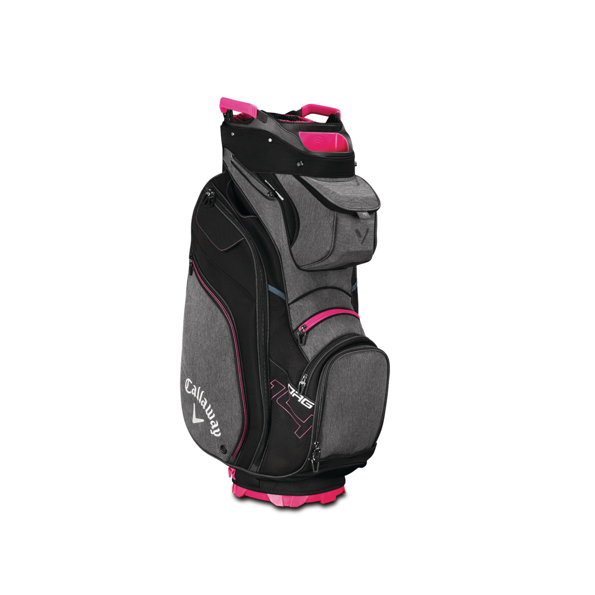 Callaway ORG 14 Cart Golf Bag Titanium/Black/Pink