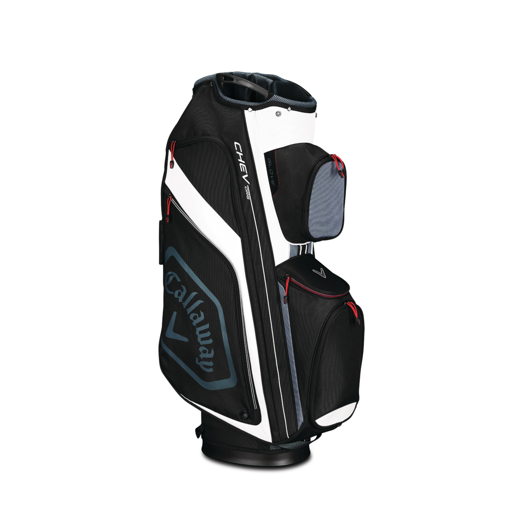 Callaway CHEV ORG Cart Golf Bag Black/Titanium/Whte