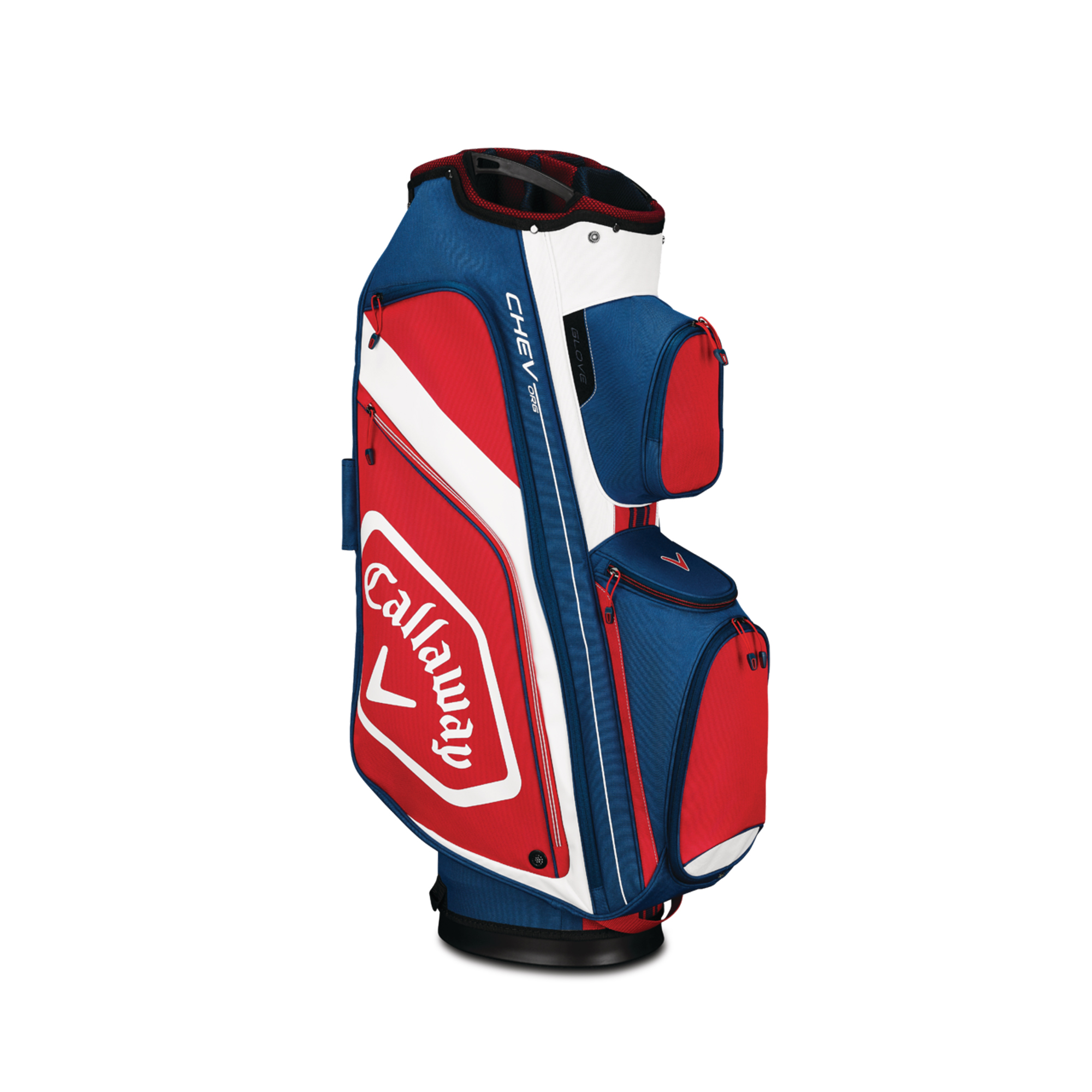 Callaway CHEV ORG Cart Golf Bag Navy/White/Red