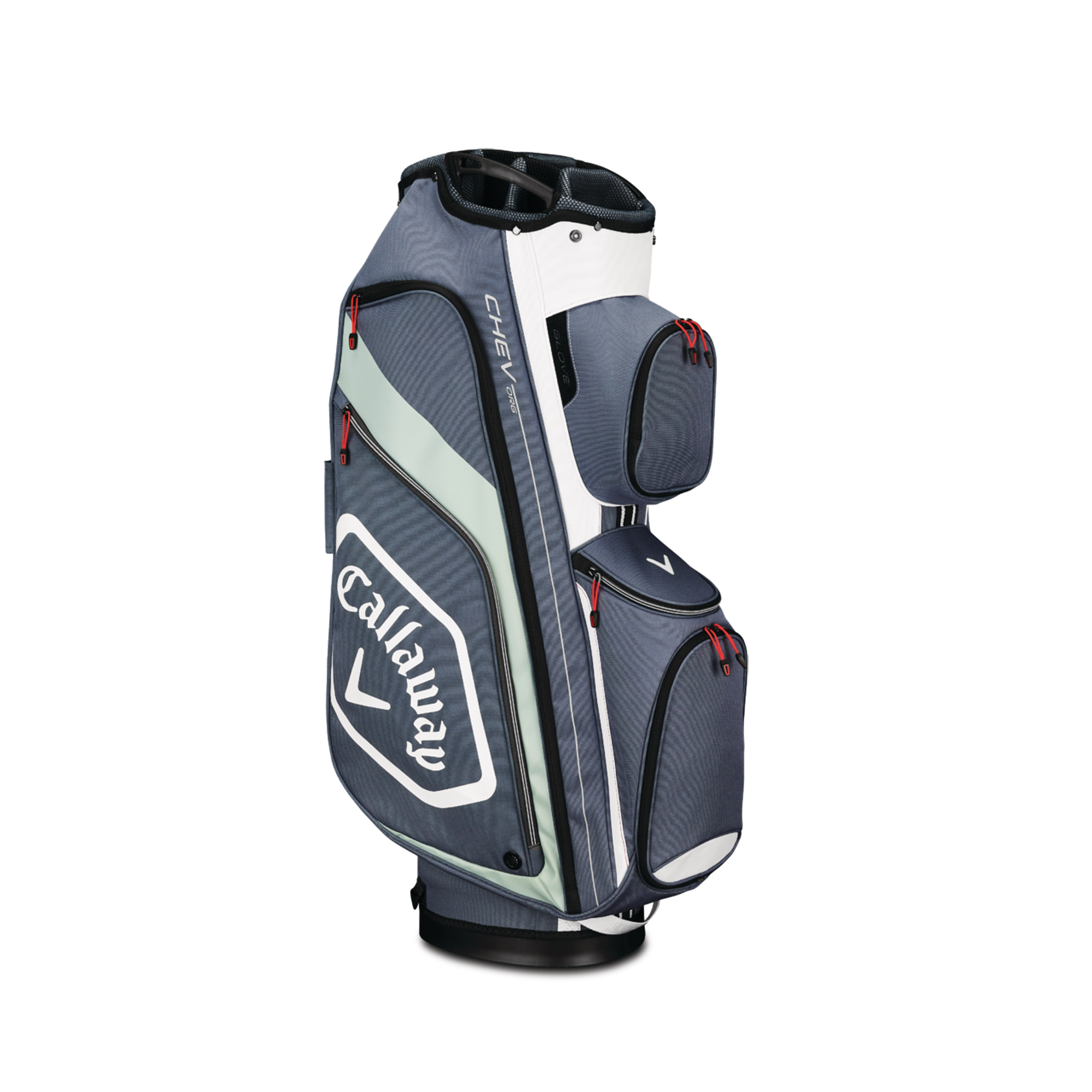 Callaway CHEV ORG Cart Golf Bag Titanium/White/Silver