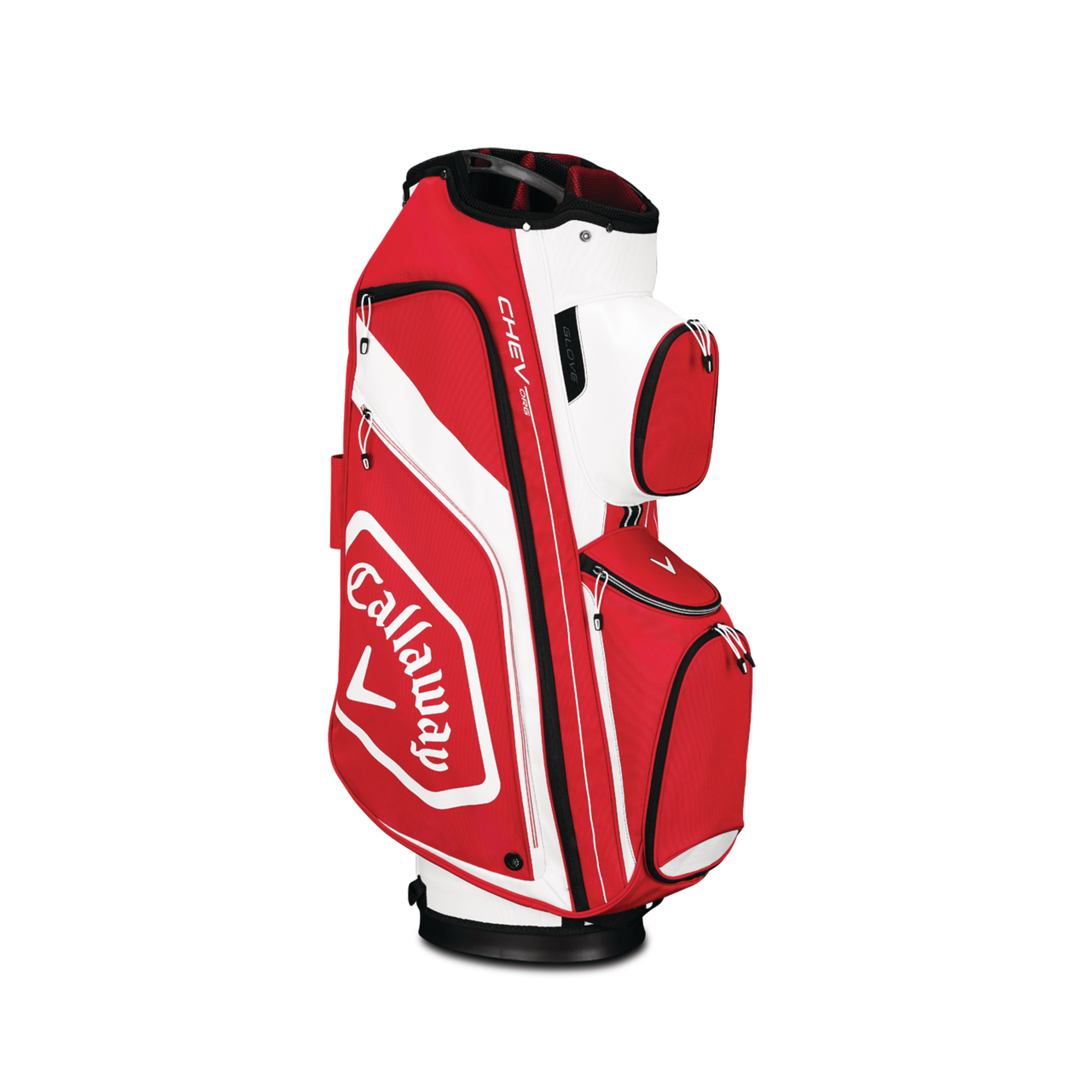 Callaway CHEV ORG Cart Golf Bag Red/White/Black