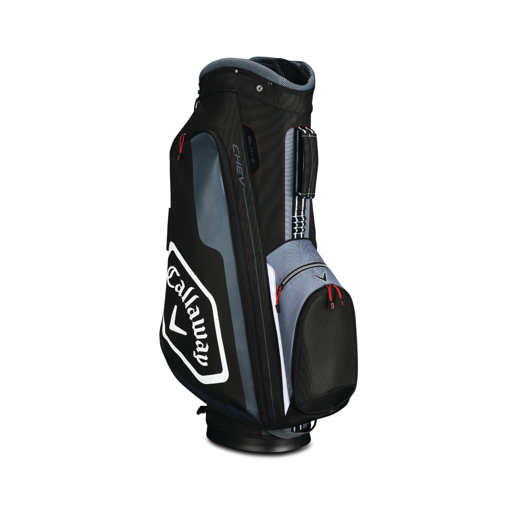 Callaway CHEV Cart Golf Bag Black/Titanium/Whte
