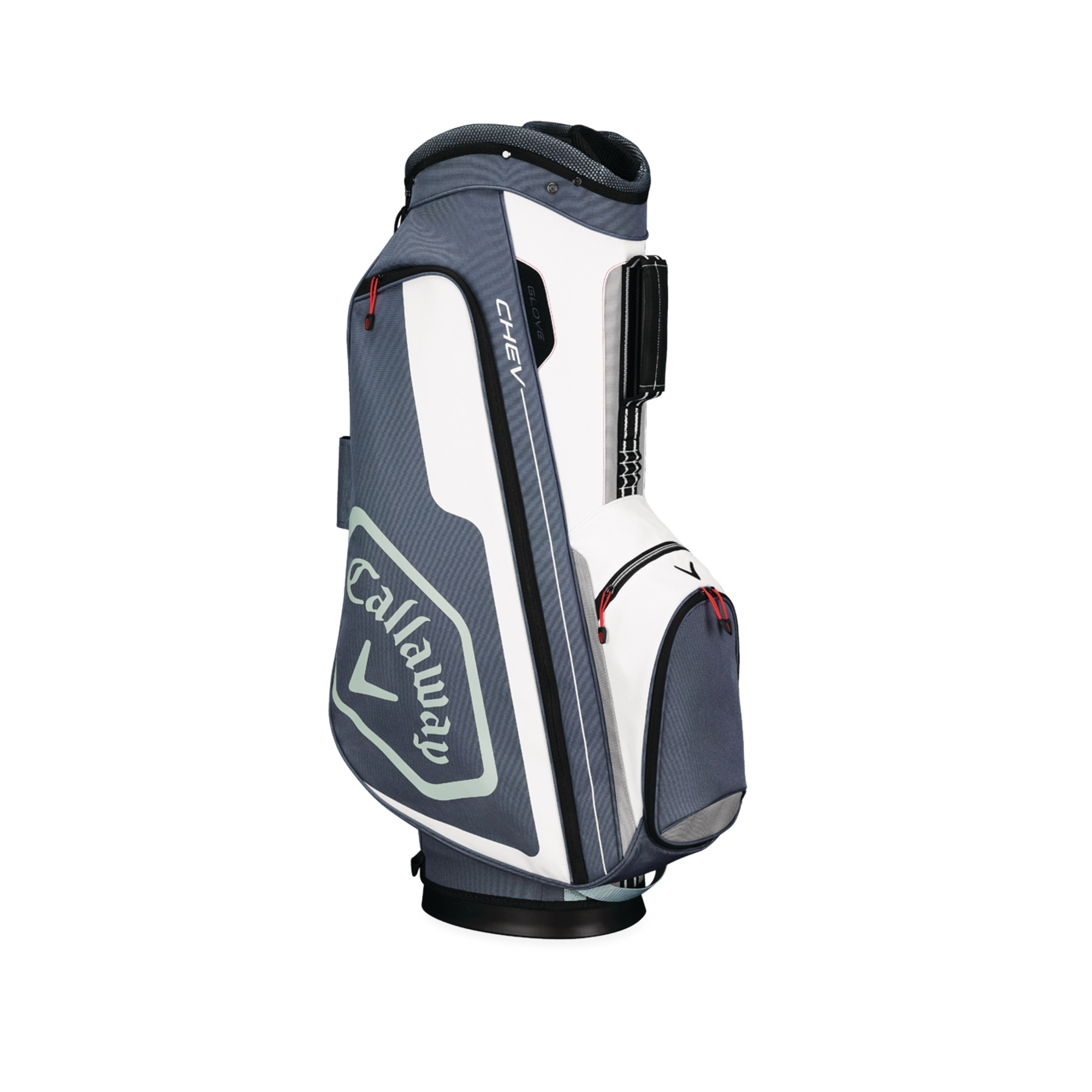 Callaway CHEV Cart Golf Bag Titanium/White/Silver