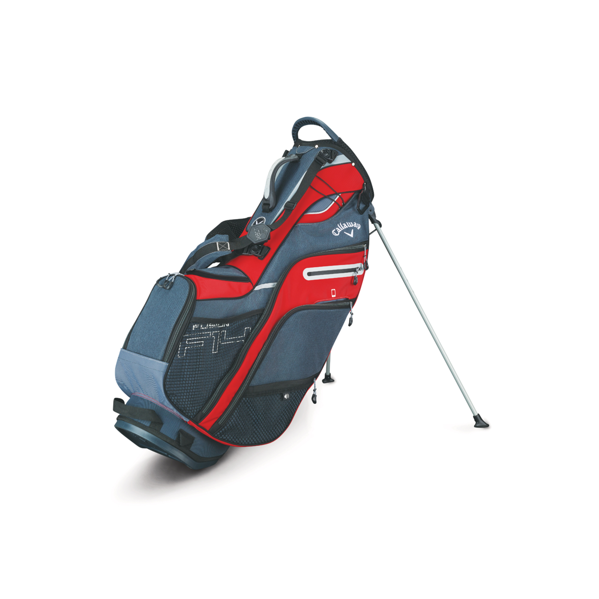 Callaway Fusion 14 Golf Stand Bag Red/Titanium/Silver