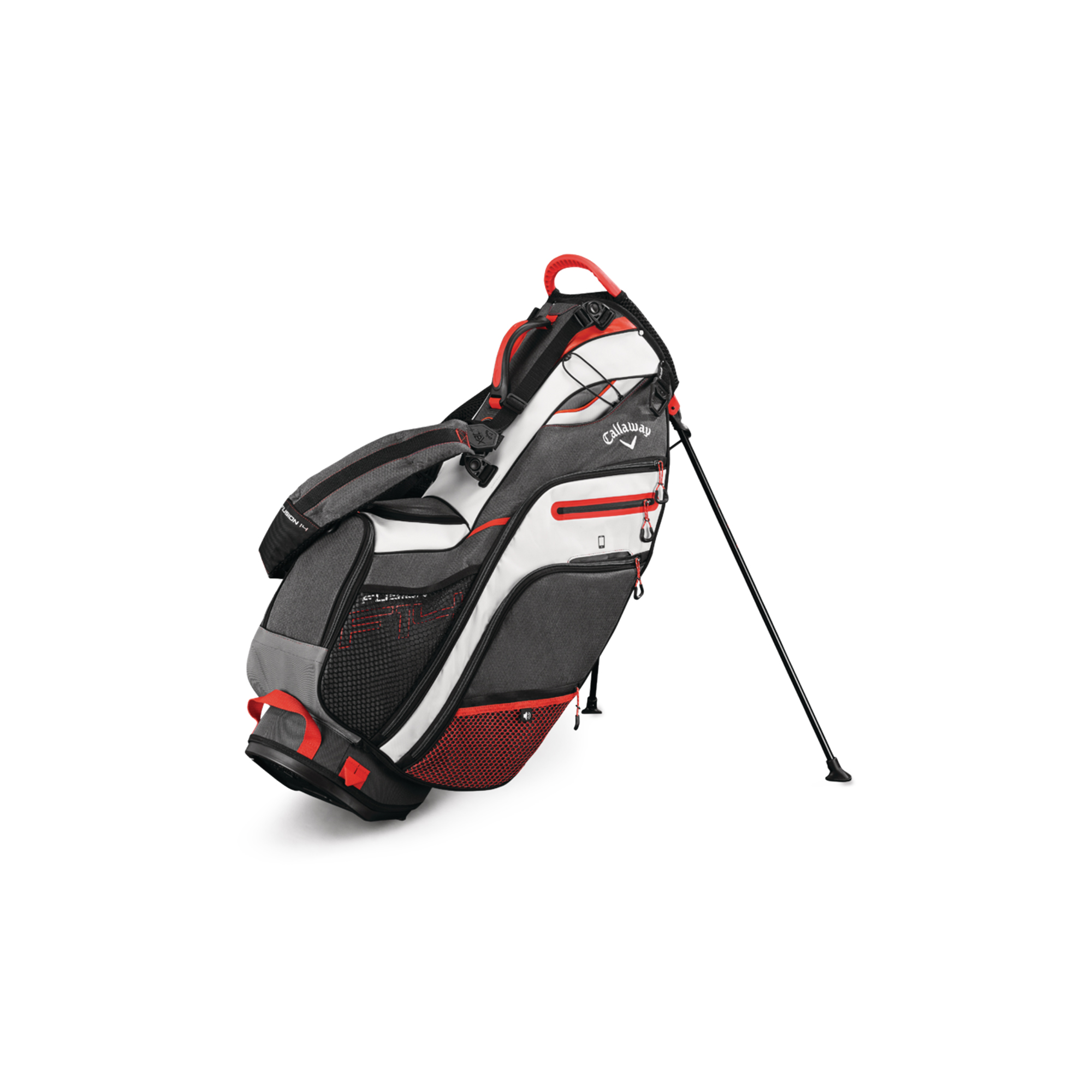 Callaway Fusion 14 Golf Stand Bag Titanium/White/Orange