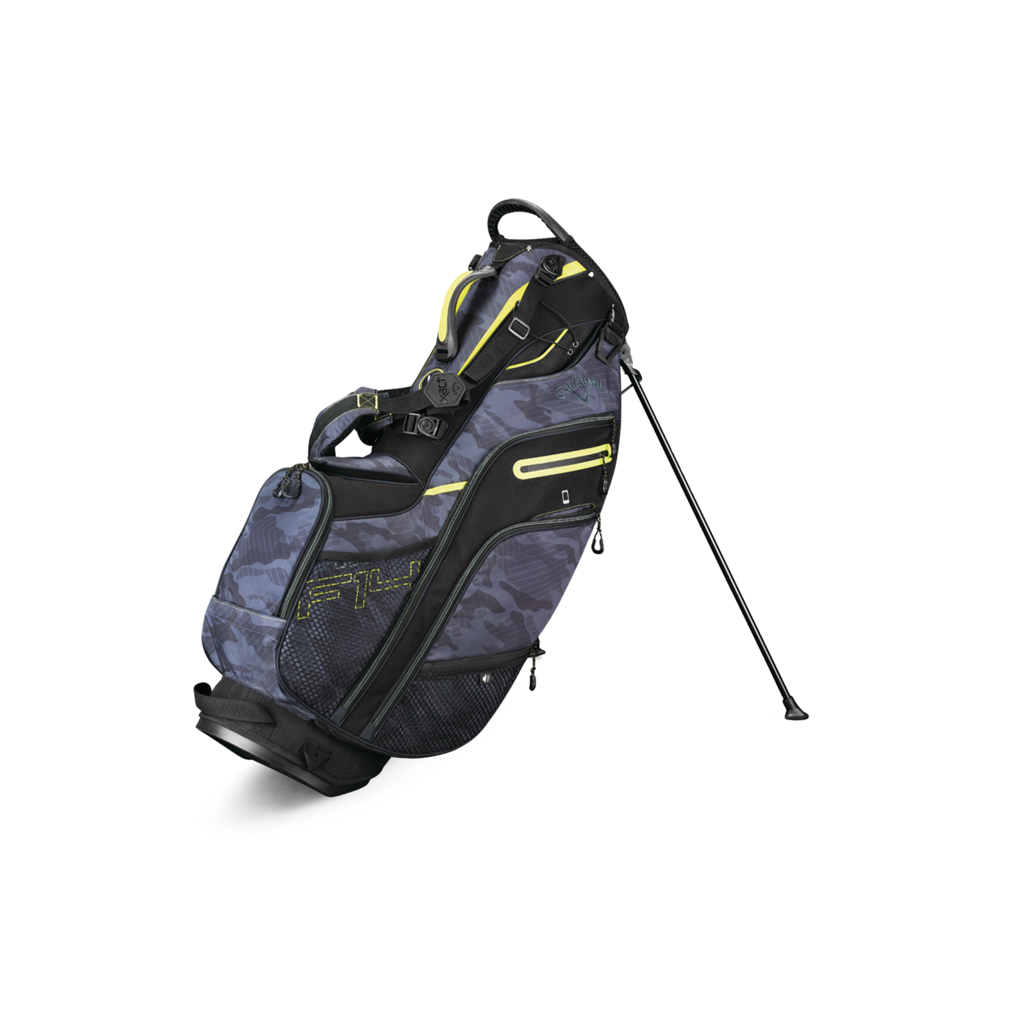 Callaway Fusion 14 Golf Stand Bag Blk Camo/Neon Yellow
