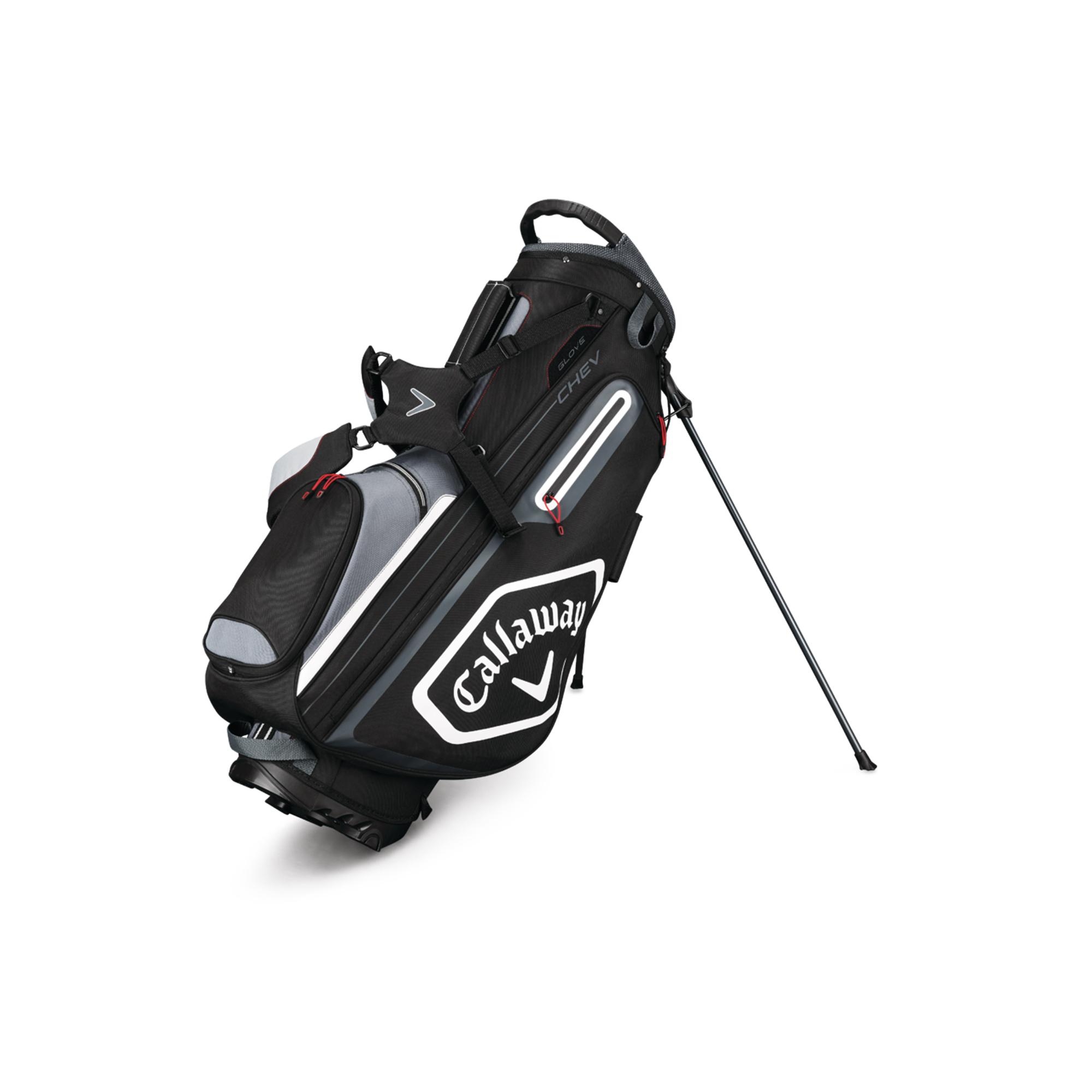 Callaway CHEV Golf Stand Bag Black/Titanium/Whte
