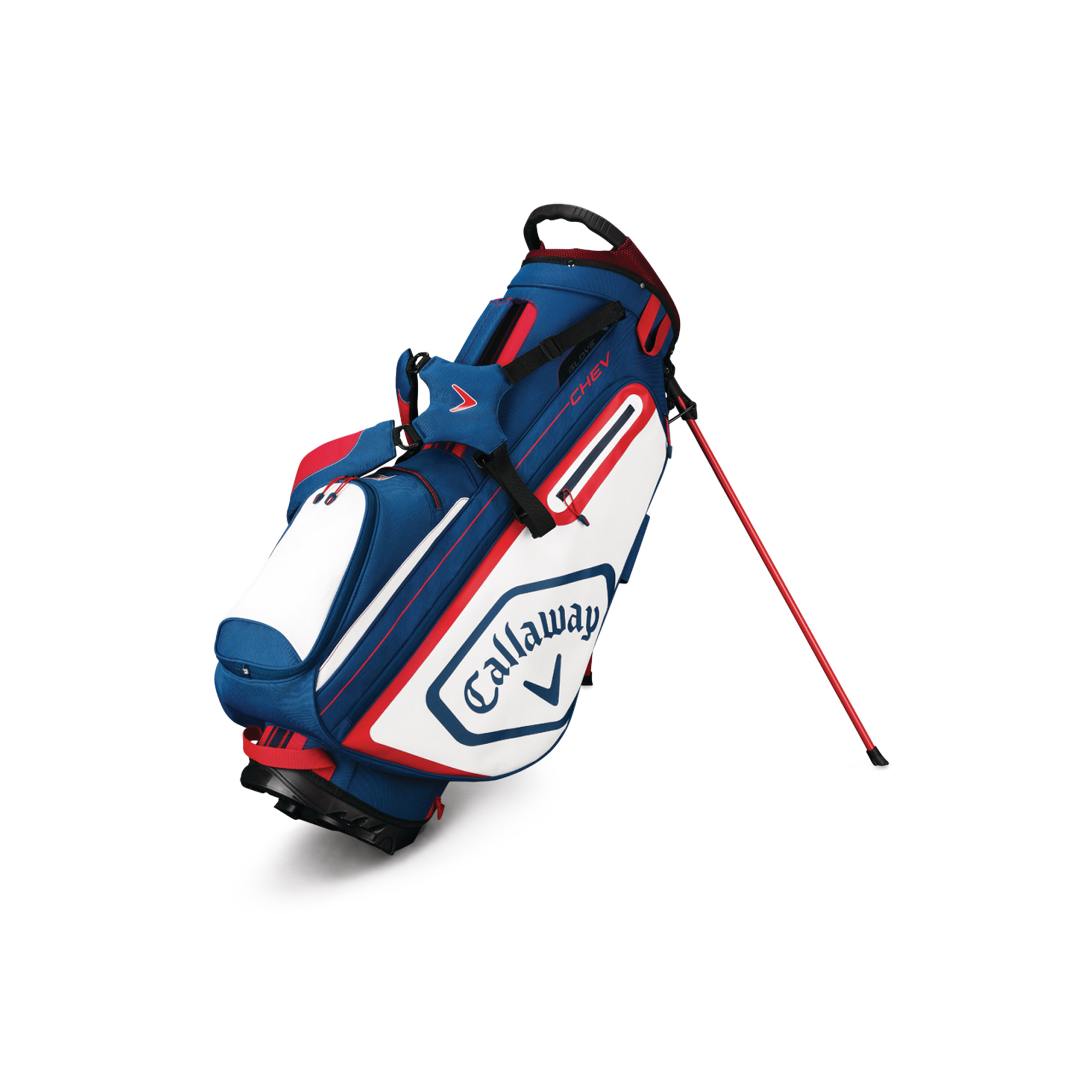 Callaway CHEV Golf Stand Bag Navy/White/Red