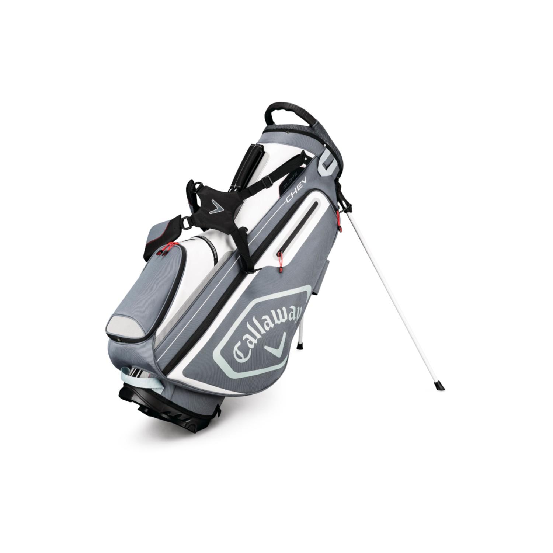 Callaway CHEV Golf Stand Bag Titanium/White/Silver