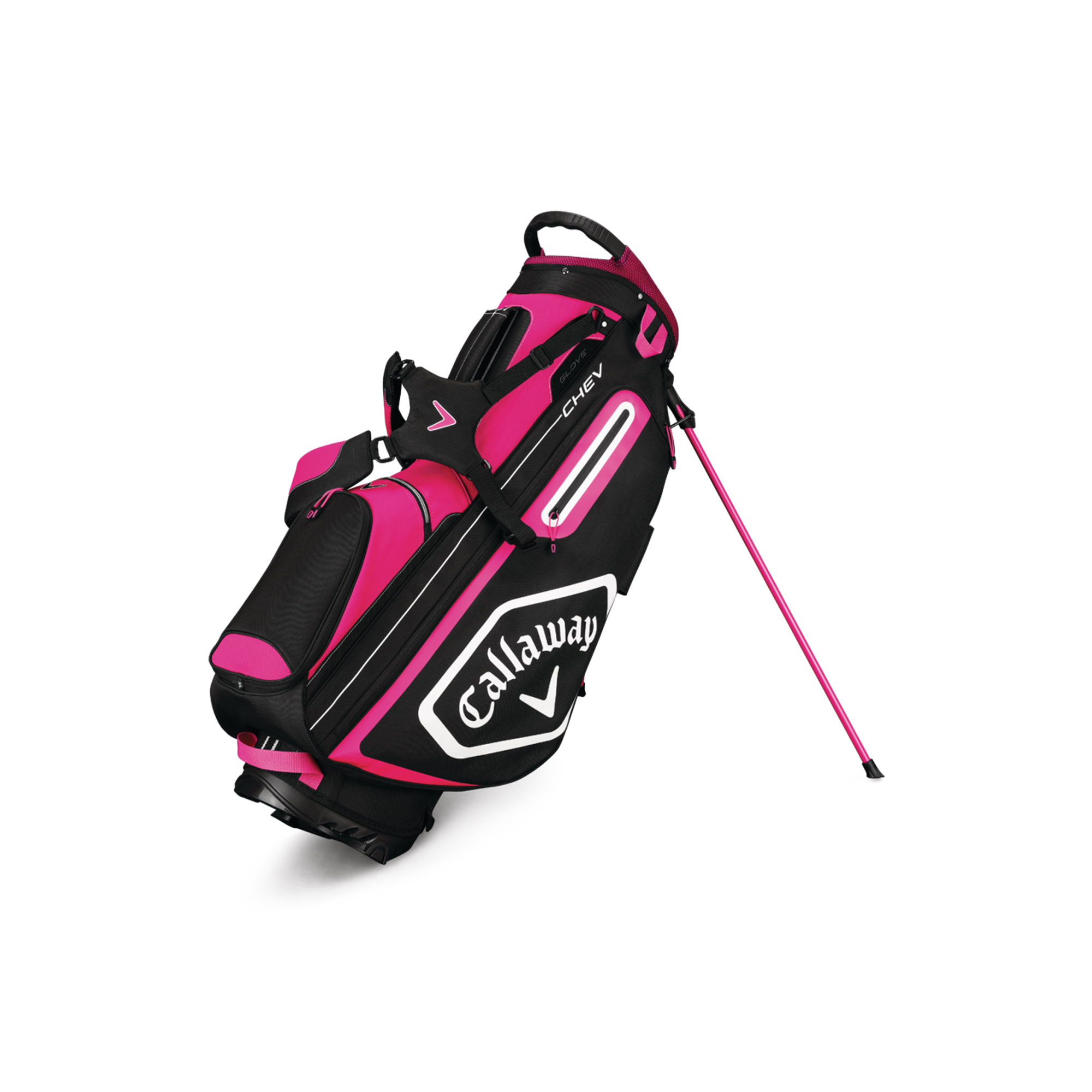 Callaway CHEV Golf Stand Bag Pink/White/Black