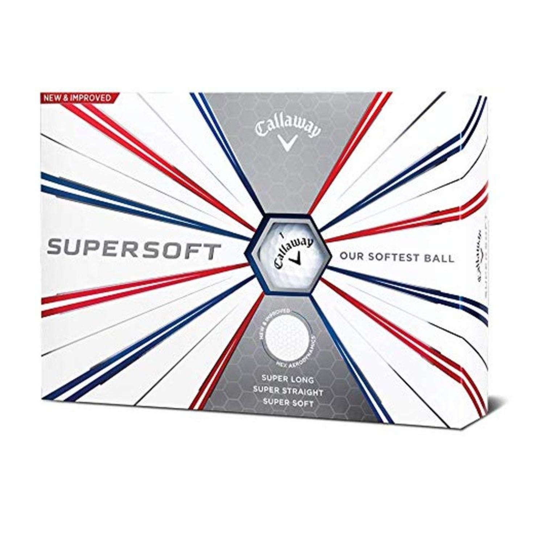 Callaway Golf 2019 Supersoft Golf Balls - White - Dozen