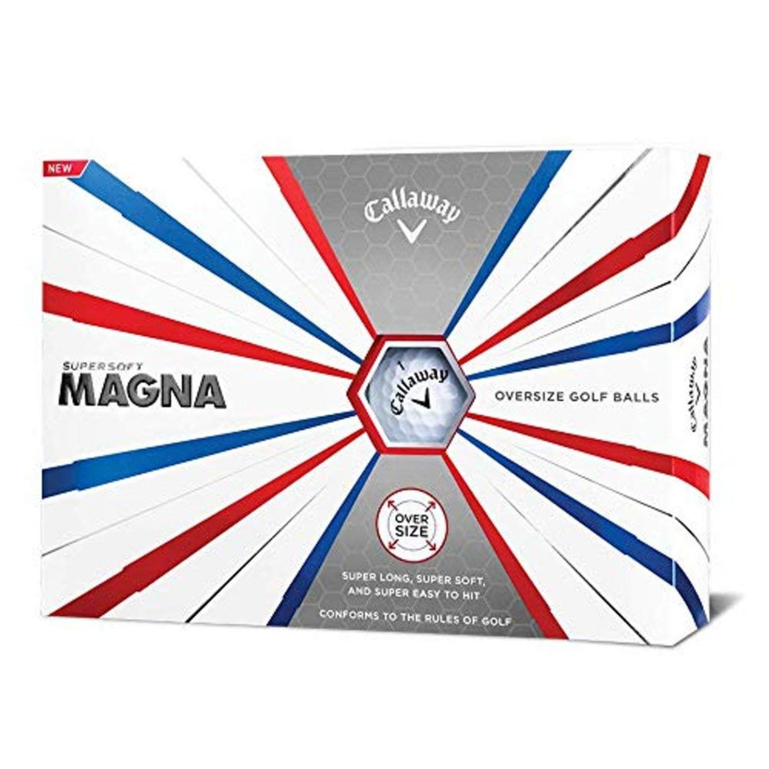 Callaway Golf Supersoft Magna Golf Balls - White - Dozen