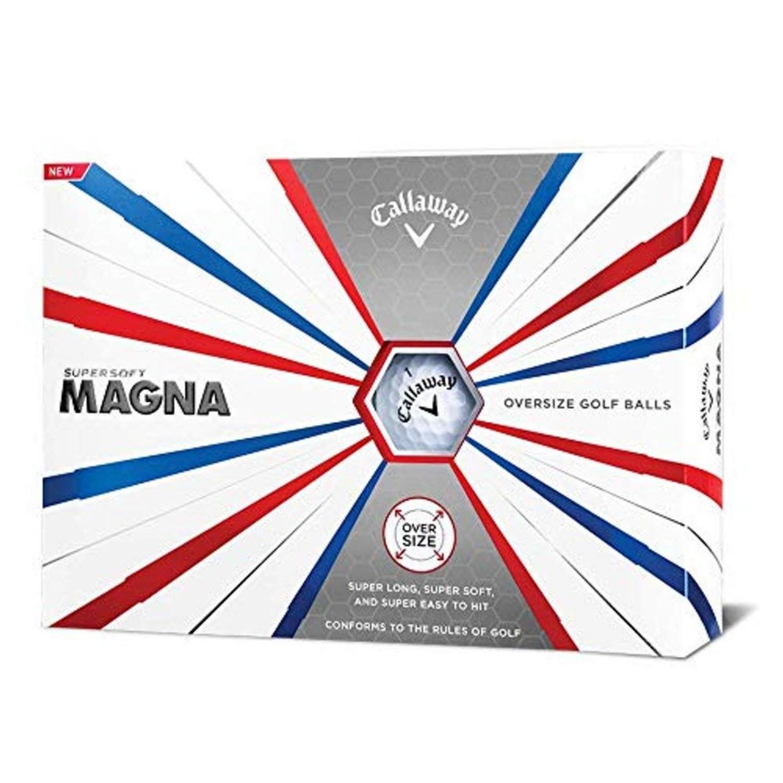 Callaway Golf Supersoft Magna Golf Balls - White - Dozen
