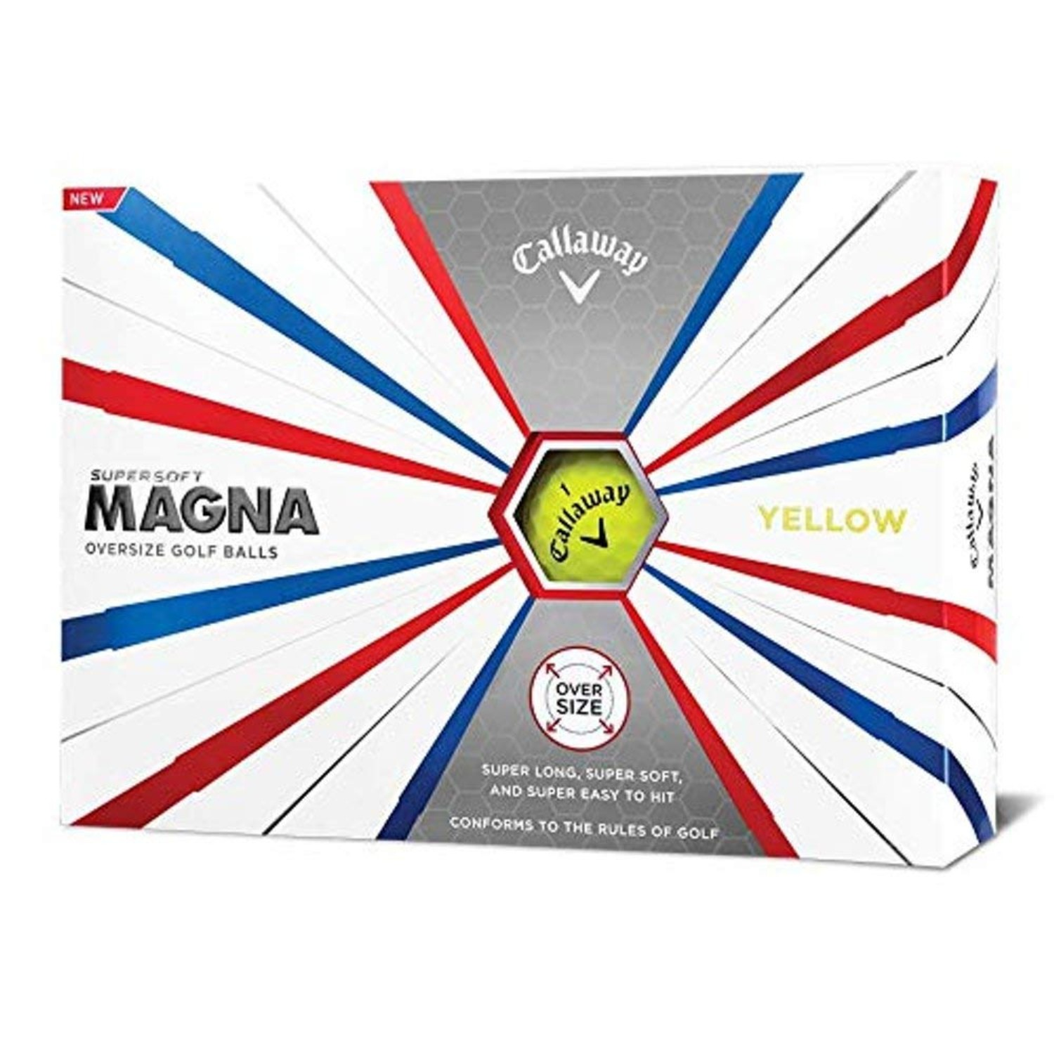 Callaway Golf Supersoft Magna Golf Balls - Yellow - Dozen