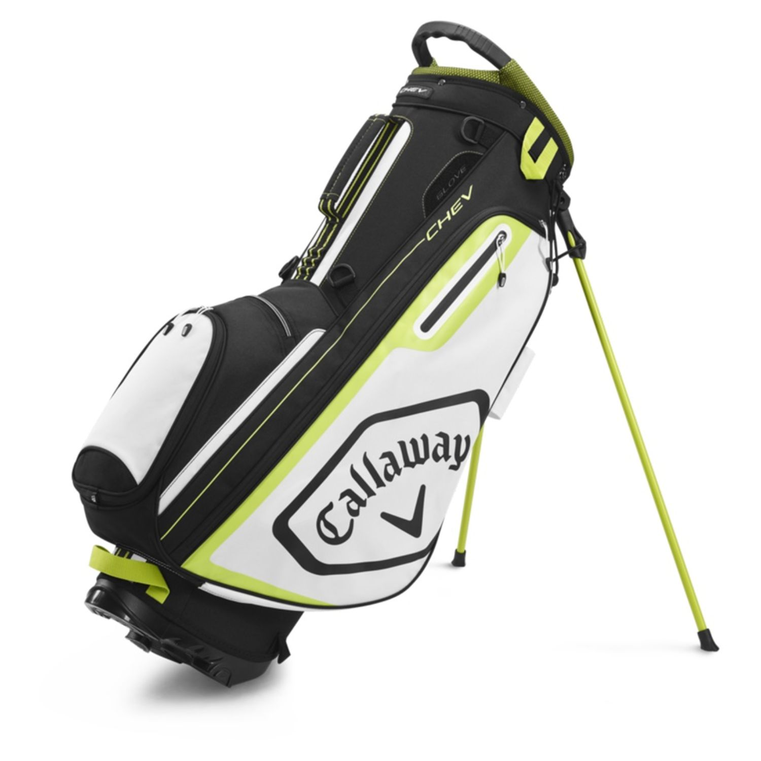 Callaway Golf 2020 Chev Stand Bag-Black-White-Yellow